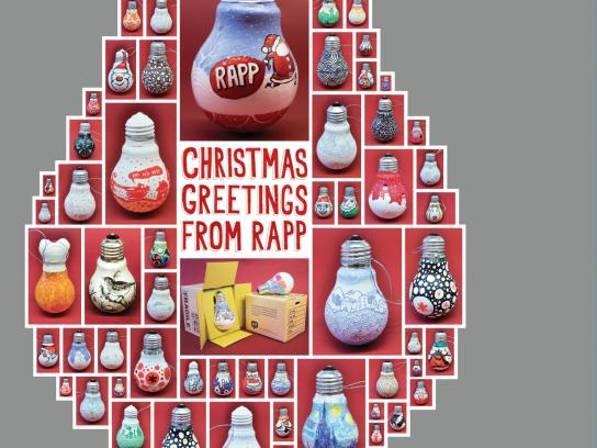 Rapp Direct Ad -  Christmas bulbs
