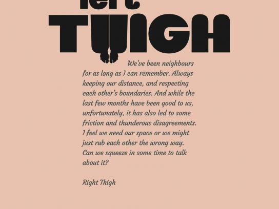 Merican Print Ad -  Thigh
