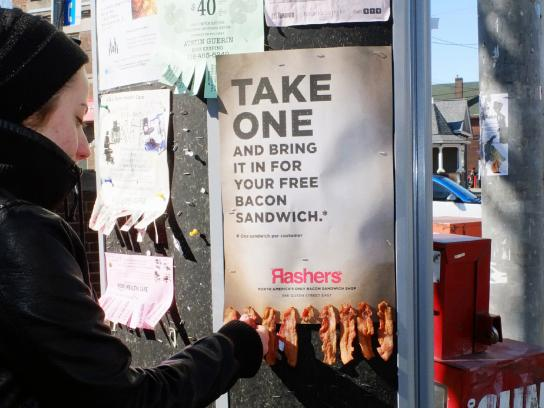 Rashers Ambient Ad -  Bacon Take One