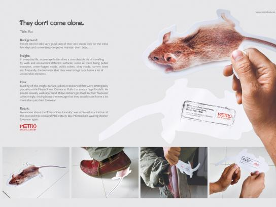 Metro Shoe Laundry Ambient Ad -  Rat