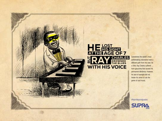 Supra Pens Digital Ad - Ray Charles