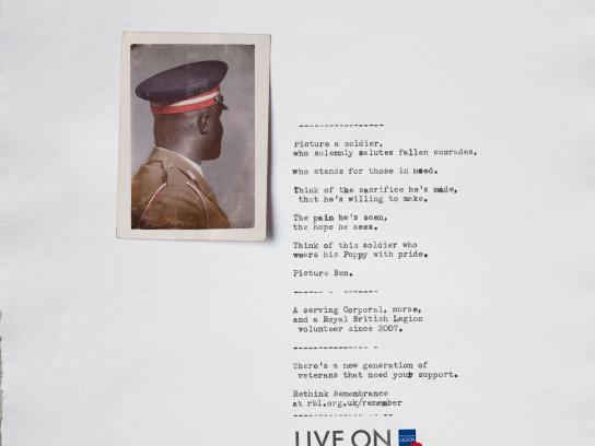 The Royal British Legion Print Ad - Ben