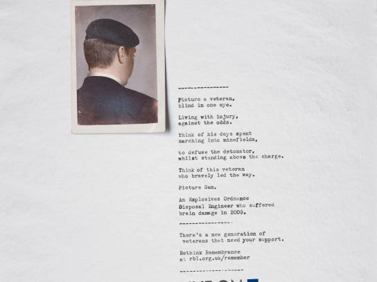 The Royal British Legion Print Ad - Sam