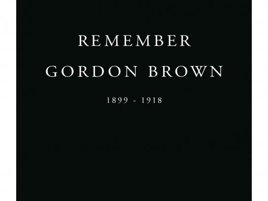 Royal British Legion Print Ad -  Remember Gordon Brown