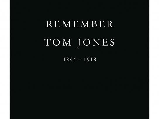 Royal British Legion Print Ad -  Remember Tom Jones