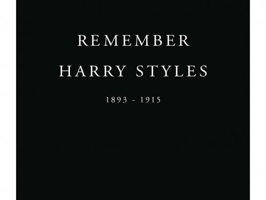 Royal British Legion Print Ad -  Remember Harry Styles