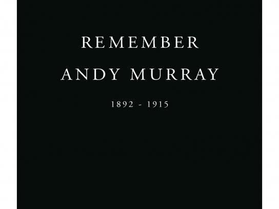 Royal British Legion Print Ad -  Remember Andy Murray