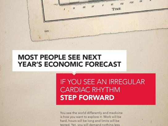 Royal College of Surgeons in Ireland Print Ad -  Graph
