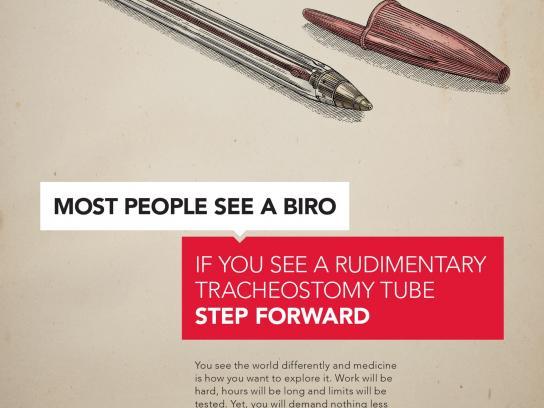 Royal College of Surgeons in Ireland Print Ad -  Biro