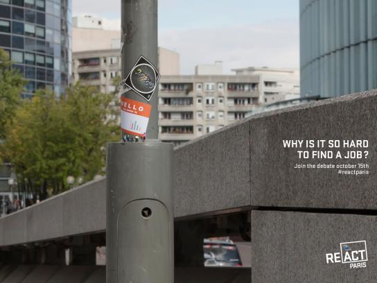 European Parliament Outdoor Ad -  Why is it so hard to find a job?, 2