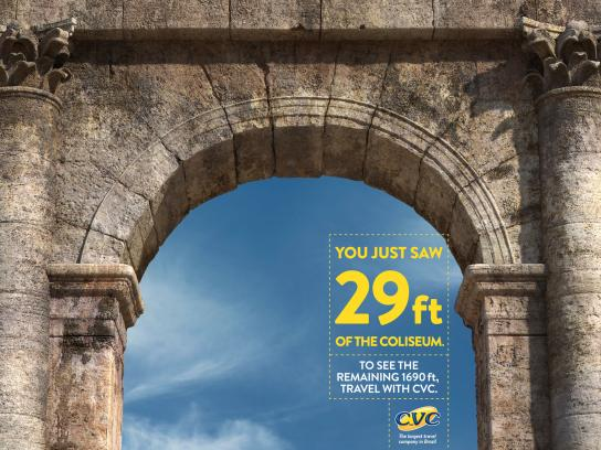 CVC Travel Print Ad - Coliseum