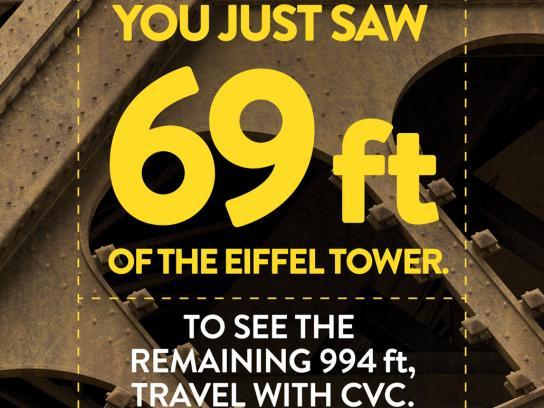CVC Travel Print Ad - Eiffel Tower