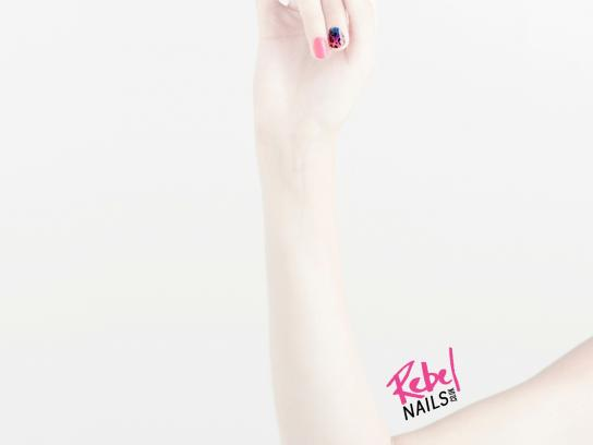 Rebel Nails Print Ad -  Rock