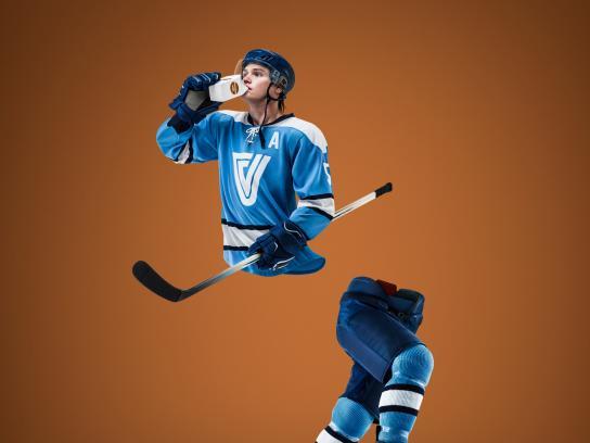 Les Producteurs de lait du Québec Print Ad - Hockey