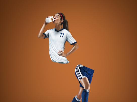 Les Producteurs de lait du Québec Print Ad - Soccer