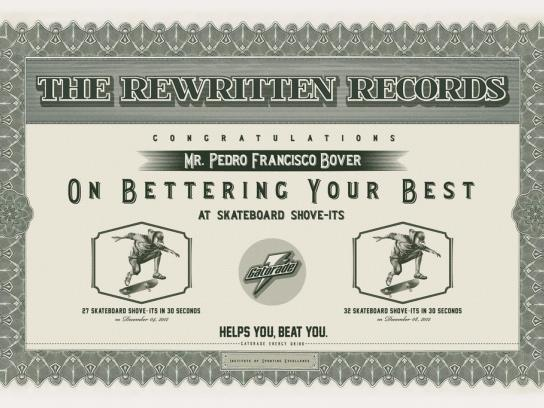 Gatorade Print Ad -  The rewritten records, 2