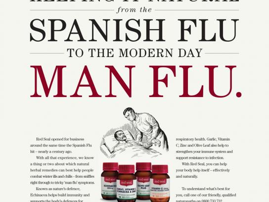 Red Seal Outdoor Ad -  Man Flu