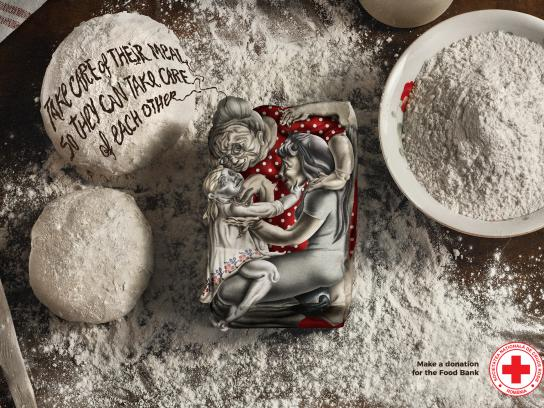 Red Cross Print Ad - Flour
