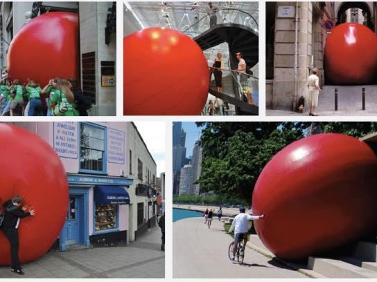 The California Lottery Ambient Ad -  Red ball