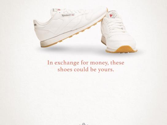 Reebok Print Ad - Exchange for money