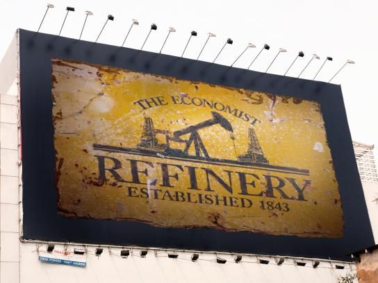 The Economist Outdoor Ad -  Signs, Refinery