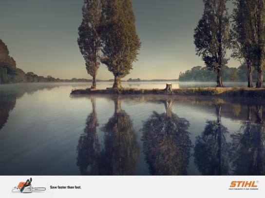 Stihl Print Ad -  Reflection