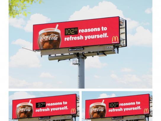 Coca-Cola Outdoor Ad - Refresh