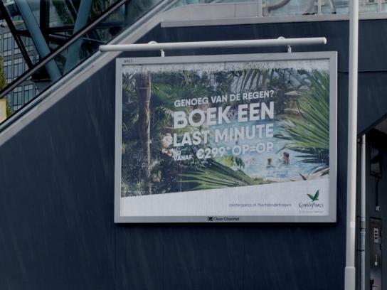 Center Parcs Outdoor Ad - Rain Billboard