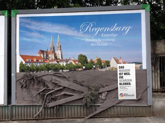 Aktion Deutschland hilft Ambient Ad -  Regensburg