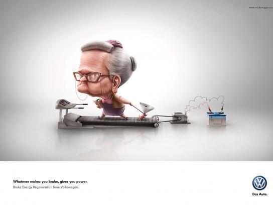 Volkswagen Print Ad -  Grandma