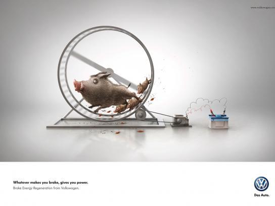 Volkswagen Print Ad -  Wild hogs