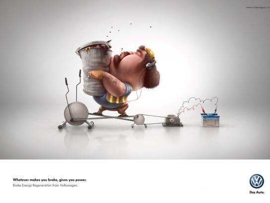 Volkswagen Print Ad -  Garbage man