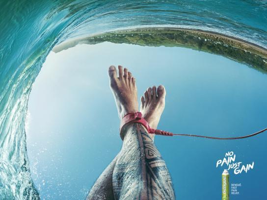 Balsamo Bengué Print Ad - Bengué Relax - Surfing