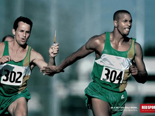 Red Sports Print Ad -  Relay