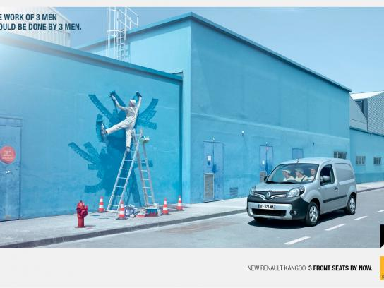 Renault Print Ad -  3 Men
