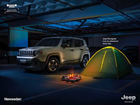 Jeep Print Ad -  Live an adventure every day