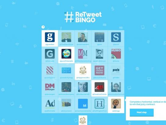 Happiness Brussels Digital Ad -  #Retweet Bingo