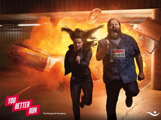 Islandsbanki Print Ad - You Better Run, 2