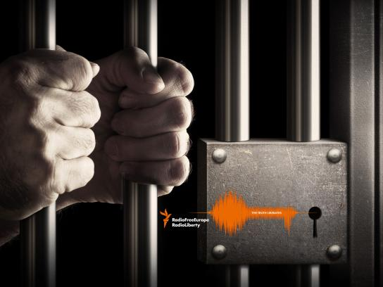 Radio Free Europe / Radio liberty Print Ad - Prison bars