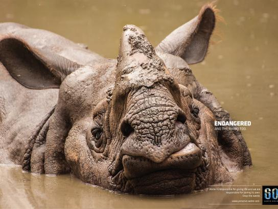 Earth Hour Print Ad -  Rhino