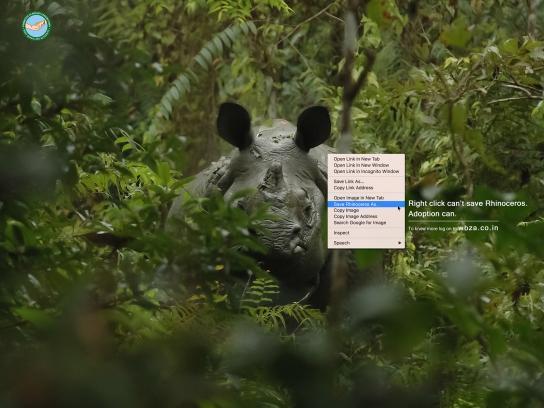 WBZA Print Ad - Rhinoceros