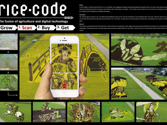 Inakadate Village Ambient Ad -  Rice-code