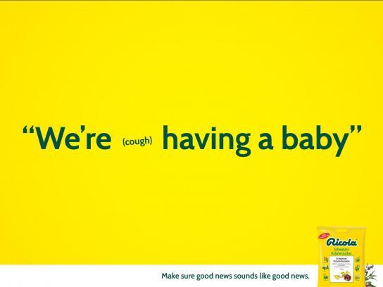 Ricola Print Ad -  Baby