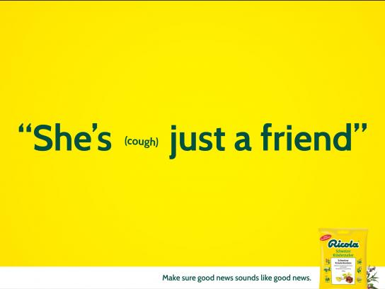 Ricola Print Ad -  Friend