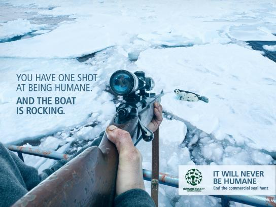 Humane Society International Print Ad - Rifle