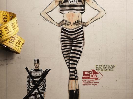 Right Job Print Ad -  Uniform