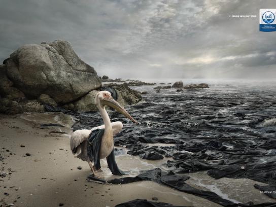 Rio Art Print Ad - Oil Spills - Pelican