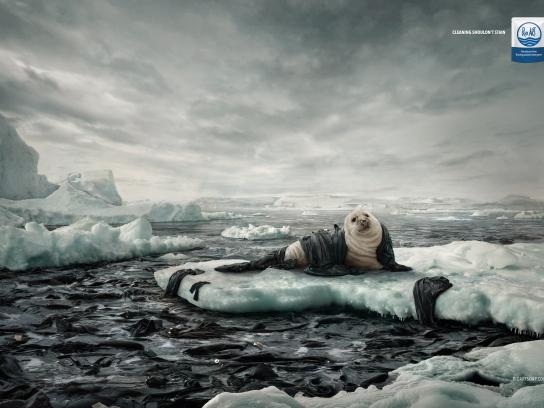 Rio Art Print Ad - Oil Spills - Seal