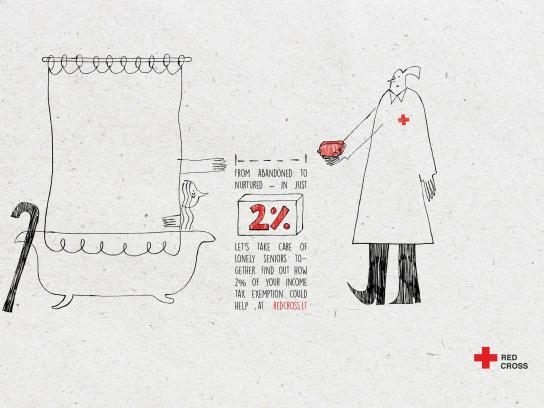 Red Cross Print Ad - Soap