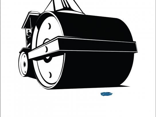 Khaitan Print Ad - Road roller